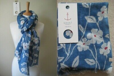 New Seasalt Tranquil Scarf Linen Cotton blend Wrap Floral