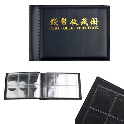 60 Album Coins Penny Money Storage Book Case Folder Holder Coin Collection Books
