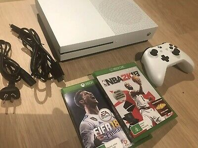 Microsoft Xbox One S 500 GB White Console + 2 Games GREAT CONDITION!!