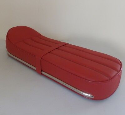 Lambretta Nanucci Style Racer Seat with Catch OXBLOOD