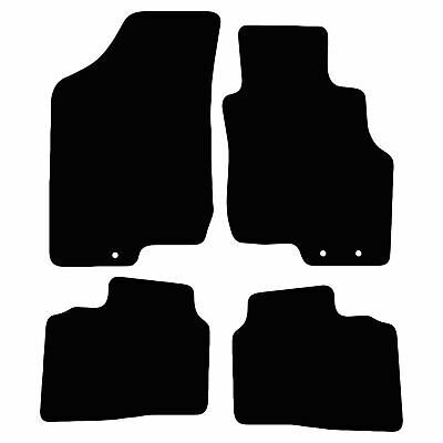 Kia Ceed 2009 - 2012 Tailored Black Car Floor Mats Carpets 4pc Set 3 Holes