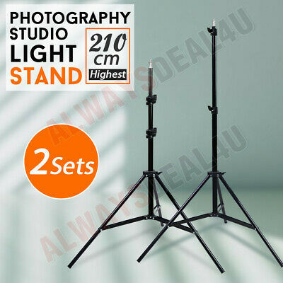 2X Adjustable 2.1m Light Stand Tripod for Photo Studio Softbox Flash Video Light