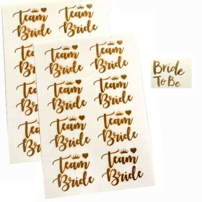 24X Team Bride 1X Bride To Be Tattoos Tribe Squad Hen Party Night Badges Sashes