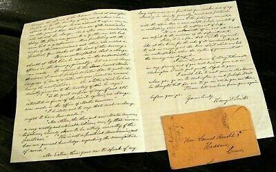 1851 Springfield MA Armory GUNSMITH Gun Maker WEAPONS Letter ALS Arnold SMITH CT