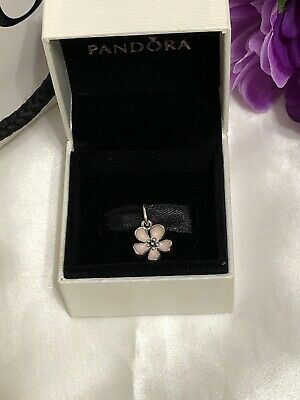 eee4f9d46 Authentic Pandora Sterling Silver S925 ALE Pink Cherry Blossom Charm  390347EN40