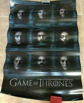 Genuine Official Game of Thrones Season 6 HBO 2016 Poster 24X36 DOUBLESIDED NEW