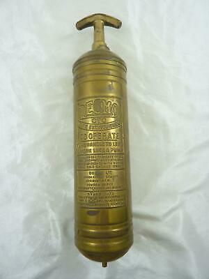 Vintage Brass Desmo CTC Fire Extinguisher Complete With Wall Mount