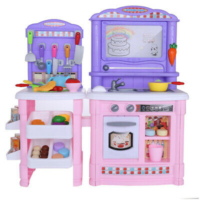 KIDS WOODEN PRETEND Cooking Playset Kitchen Toys Cookware Play Set ...