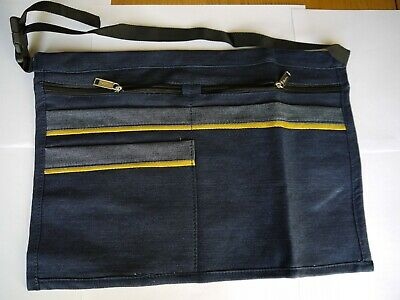 Denim 5 Pocket Market Trader Money Bag , Pouch , Adjustable Strap