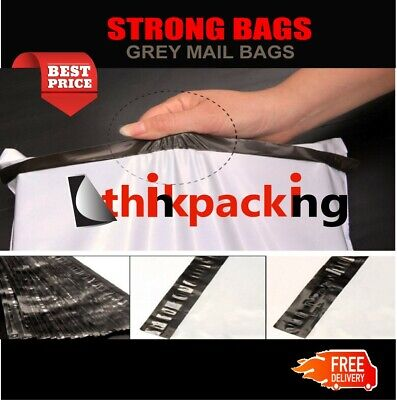 50 Premium Strong 9x12 size WHITE Virgin Plastic Mailing Postal Poly Postage Bag