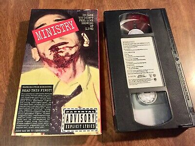 MINISTRY VHS - In Case You Didn't Feel Like Showing Up - LIVE - 1990 Sire