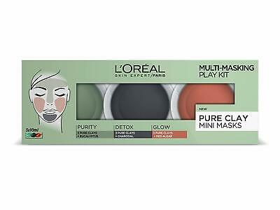L'Oreal Multi-Masking Play Kit Pure Clay Mini Masks - 3 x 10 ml