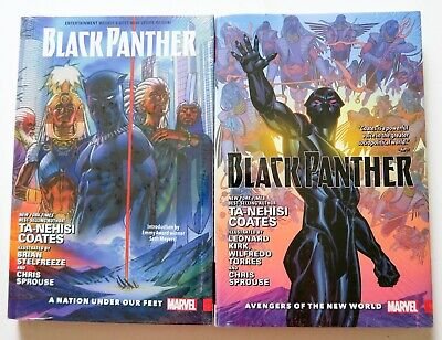Black Panther Vol. 1 Nation Under Feet & 2 Avengers New World Marvel HC Book
