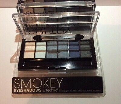 STOCK LOTTO 4 x PALETTE OMBRETTI WET&DRY + PENNELLI MAKE UP BLU