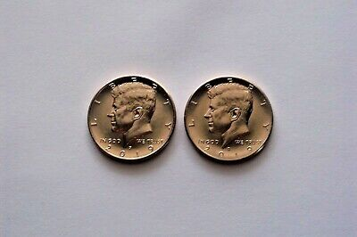 2019 P&D Kennedy Half Dollars.  PD MINT ROLL Clad 50¢ 2 Uncirculated Coins