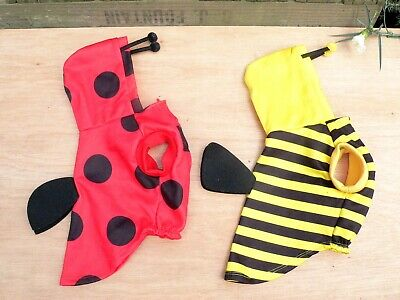 H&M Dog Clothes / Costumes - Ladybird & Bumble Bee - Size XS