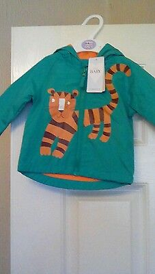 Baby boys Tiger stormwear jacket hooded age 6-9 months brand new with tags **