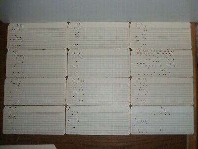 Lot of 24 Computer Mainframe Punched Cards Programming Punch Card 1960s Keypunch