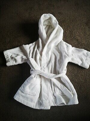 The Little White Company White Dressing Gown 12-18 months