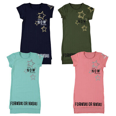 Kids Girls FOREVER OR NEVER  Midi Dress Tunic Tops Age 10-14 Years