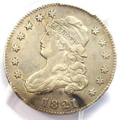1821 Capped Bust Quarter 25C - Certified PCGS XF Details (EF) - Rare Date Coin!