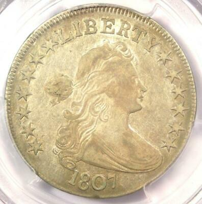 1807 Draped Bust Half Dollar 50C Coin - Certified PCGS VF25 - $800 Value!