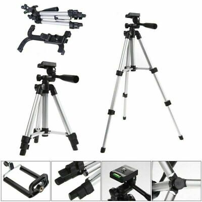 Universal Tripod Tablet Floor Stand Adjustable Holder for Phone iPad Mini Silver