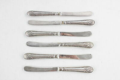 6 x Antique 1910 Sheffield STERLING SILVER Handles Butter Spreaders (143g)