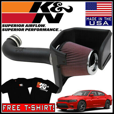 K/&N 63-1565 AirCharger Cold Air Intake for 2011-2019 Dodge Challenger 6.4L