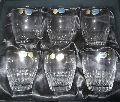 Bohemia Czech Hand Cut 24% Lead Crystal Glasses Whisky Tumbler (REF PI)