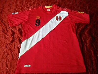 51afb55ff Umbro Peru Official Away Paolo Guerrero Authentic Jersey Shirt Russia WC  2018