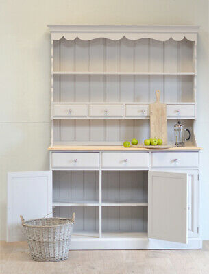 Large welsh dresser kitchen dresser farmhouse kitchen dresser solid pine grey
