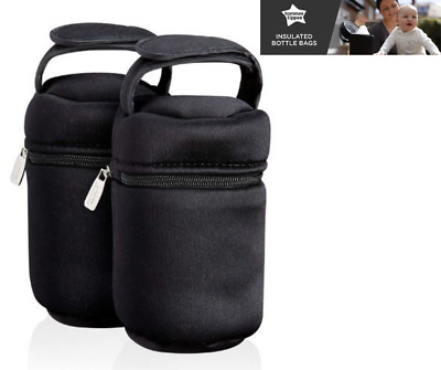 Insulated Baby Feeding Bottle bag Tommee Tippee Closer To Nature Twin Pack
