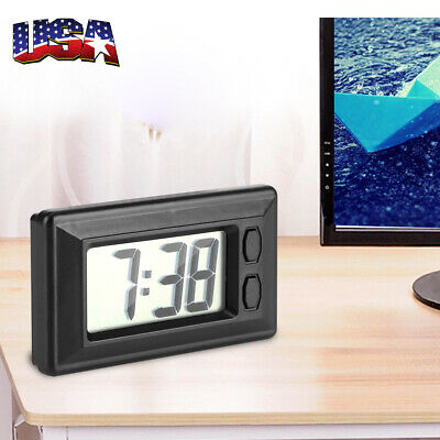 Auto Digital Car Dashboard LCD Clock Time Date Display Self-Adhesive Stick On US