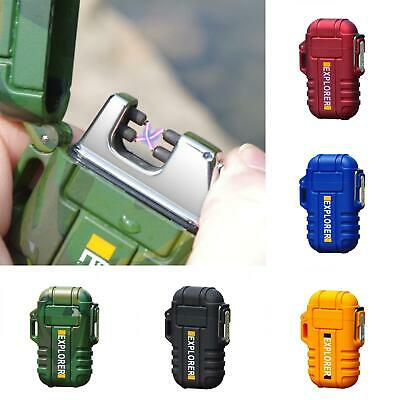Electric Lighter Windproof Dual Arc Cigarette Plasma USB Rechargeable Flameless