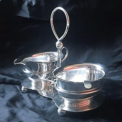Antique Welsh Cardiff Silver Plated Strawberry Set On A Stand By Cross Bros.