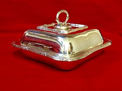 Antique Goldsmiths & Silversmiths London Regent Plate Lidded Entree Dish, Tureen