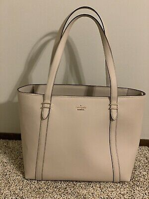 373fe5313cce Kate Spade New York Oakwood Street Chandra Leather Tote In Tusk - With Dust  Bag
