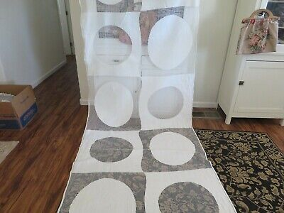 ViNTAGE ANTIQUE Eames MODERNIST Era Art DECO Unique White Lace Drapery Fabric