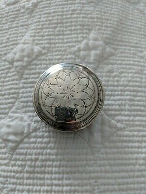 Antique French Sterling Silver Minerva Pill Or Snuff Box 16.8 grams