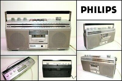 Vintage PHILIPS D8200 Radio Cassette Tape Spatial Stereo Boombox