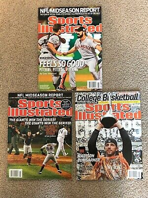 San Francisco Giants World Series Sports Illustrated 2010 2012 2015 NO LABEL