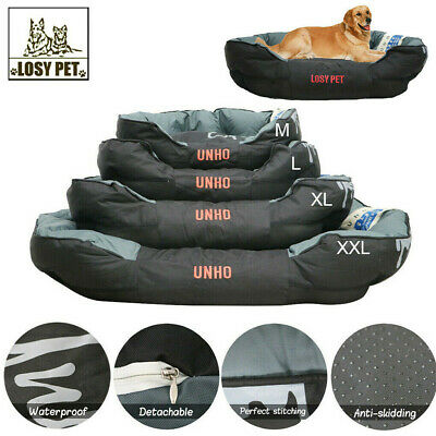 AU XXL Dog Bed Large Luxury Waterproof Sofa Removable Pillow 2 in1 Pet Cushion