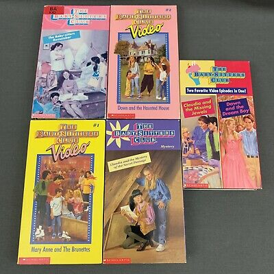 The Babysitters Club VHS Lot of 5 Tapes Claudia Dawn Mary Anne Haunted House