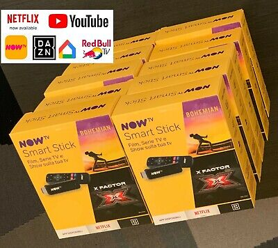 STOCK 10 NOW TV Stick Nuovi (APP NETFLIX, DAZN, YOUTUBE)