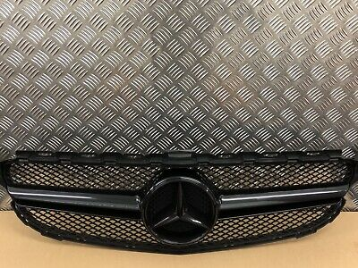 Mercedes W205 C Class C63 Style Grille Amg Sport Gloss Black Coupe Saloon Cabrio