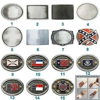 New Vintage-Style Blank Flag Belt Buckle Mix Styles Choice also Stock in US
