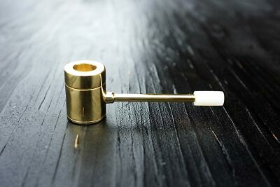 Popeye Pipe - Unique Cleanable Brass Smoking Pipe Made in Hawaii USA Screenless