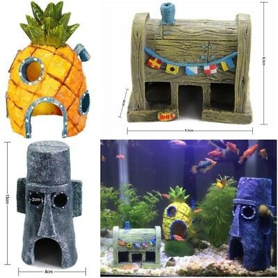 Aquarium Decor Pineapple Home Ornament Fish Tank Dectoration Fish Hideaway BK2X