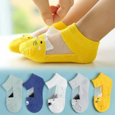5Pairs Children Boy Girl Soft Cute Cotton Sock Kids Baby Size Short Spring Ankle